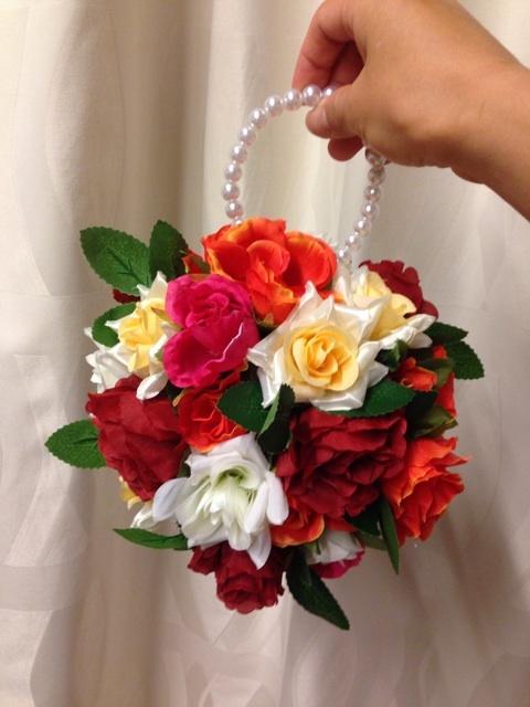 撮影小道具作り お花の飾り