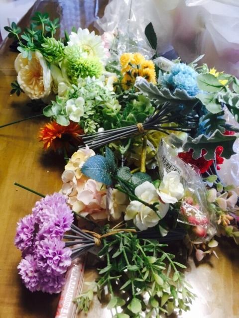 花かんむりを手作り